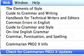 Grammarian update check
